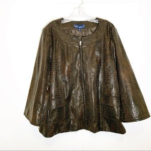 Susan graver blazer/ cape like wide sleeve size XL